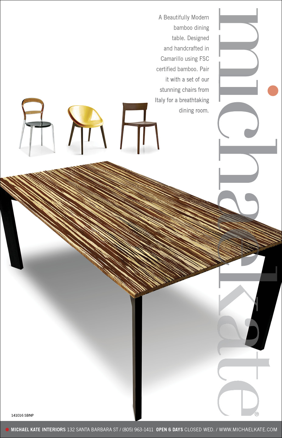 Welcome to MichaelKate Interiors » Beautiful Modern Bamboo Dining ... for Modern Bamboo Dining Table  146hul